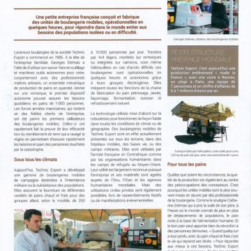 A magazine article on La boulangerie Française -« Des boulangeries tout     terrain » – January 2017